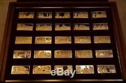 100 Greatest Americans Franklin Mint Silver Proof Set Ingots