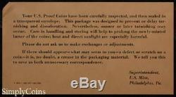 (10) 1962 Proof Set Original Envelope With COA US Mint Silver Coin Lot #2