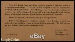 (10) 1963 Proof Set Original Envelope With COA US Mint Silver Coin Lot