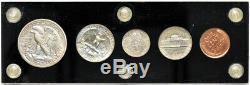 1938 US Mint Silver Proof Set 5 coins Capitol Plastics Holder GREAT COINS 147