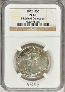 1942 5 Coin 90% Silver Proof Set NGC PR 66-64 Original Set Consecutive Numbers