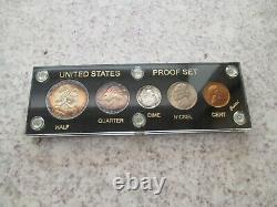 1950 1951 1952 US Mint Silver Proof Sets in Capital Holder with Original Packaging