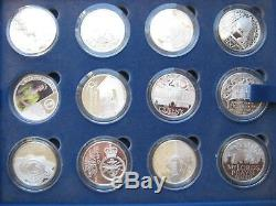 19522012 Royal Mint Queen's Diamond Jubilee 24 Silver Proof Coin Collection Set