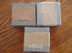 1953 1954 1955 US MInt Silver Proof Sets in Unopened Seal Boxes