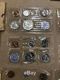 1955-64 Us Silver Proof Sets. 10 Sets