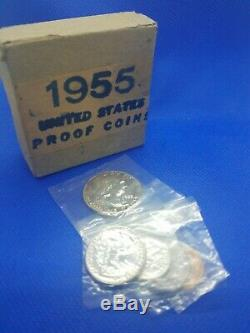 1955 silver proof set original box