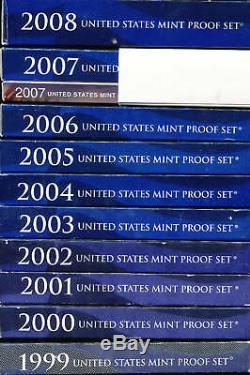 1959 Silver thru 2009 US Mint PROOF SET Run Collection /