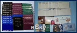 1968 through 1998 PROOF SETS AND MINT SETS PLUS 1976 Silver Sets-62 SETS
