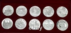 1969 Tunisia Tunisienne Franklin Mint 10-Coin Proof Silver Set Box & COA