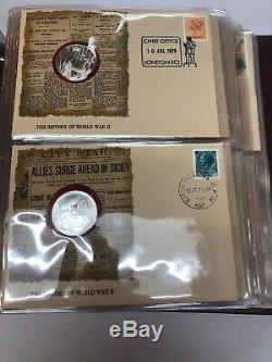 1979 Franklin Mint the History Of World War 2 Proof Set Sterling Silver 50 Coins