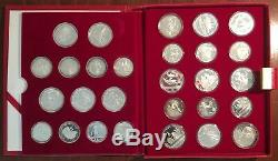 1980 Moscow Olympic 28-Coin Silver Proof Set with Box and COA-P75972 Excellent