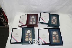 1986-1997 12 US Mint Prestige Proof Sets 12 Sets 90% Silver Dollars COA & Boxes