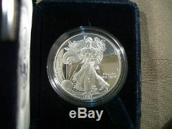 1986-2019 Complete (35 Coin) American Proof Silver Eagle Set withBox, Case & COA