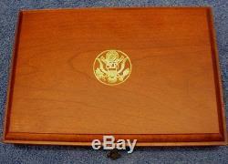 1986 UNITED STATES LIBERTY & ELLIS ISLAND 6 COIN GOLD & SILVER PROOF SET BOX-COA