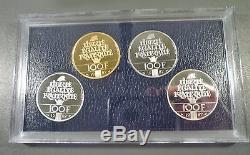 1987 Lafayette Commemorative Proof Set Silver, Gold, Platinum, Palladium Coins