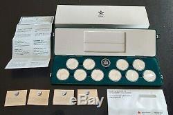 1988 Canada Calgary Olympics SILVER 10 Coin Proof Set withBox + COA #coinsofcanada