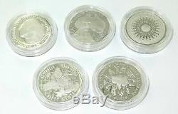 1989 Australian Masterpieces In Silver 50 Cent Complete Silver Proof Set