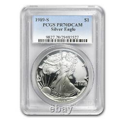 1989-S Proof Silver American Eagle PR-70 PCGS (Registry Set) SKU #32799
