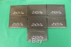 1992 1998 S Silver Proof set run 1993, 1994, 1995, 1996, 1997