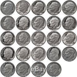 1992-2015 S Roosevelt Dimes 90% Silver Gem Deep Cameo Proof Run 24 Coin Set