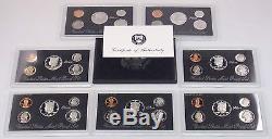1992-2015 U S Mint Silver Proof Sets, 24 Complete Sets, SILVER SETS