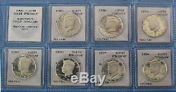1992-S thru 1998-S Gem Proof Silver Kennedy Half Dollar 7pc Set