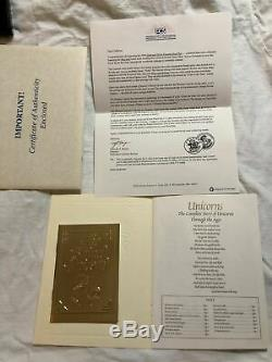 1994 China Gold & Silver Unicorn 4 Coins Proof Set WithBox & COA Last Set