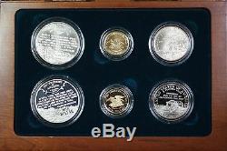 1995 Civil War Battlefield Gold Silver & Clad 6 Coin Proof &UNC Set NO OUTER BOX