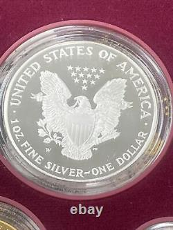 1995 W 10th ANNIVERSARY GOLD SET With KEY SILVER EAGLE OGP