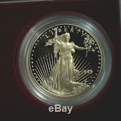 1995 W 10th Anniversary 5 Coin Gold & Silver Eagle Boxed Proof Set with COA