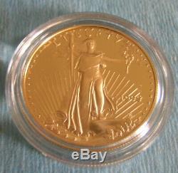 1995 W, 10th Anniversary American Eagle Proof Set Gold & Silver in the Box, COA