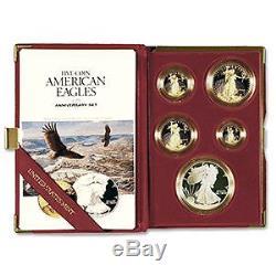 1995-W 10th Anniversary Proof Eagle Set