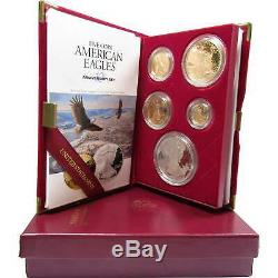 1995-W American Eagle 10th Anniversary Gold & Silver Proof Set with box & COA