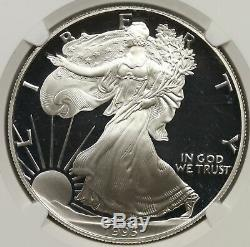 1995-W American Silver Eagle $1 Proof PF 69 Ultra Cameo NGC Anniversary Set