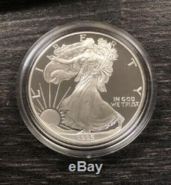 1995-W Proof Eagle 10th Anniversary Set Complete With 1995-W Silver Eagle