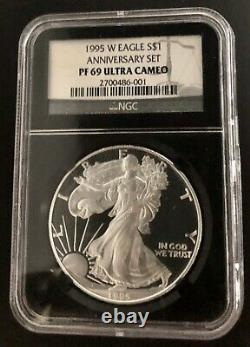 1995-W Proof Silver $1 American Eagle PF-69 NGC from Anniversary set