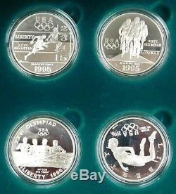 1996 Atlanta Olympics Proof Silver 8 Coin Set with Box & CoA Z
