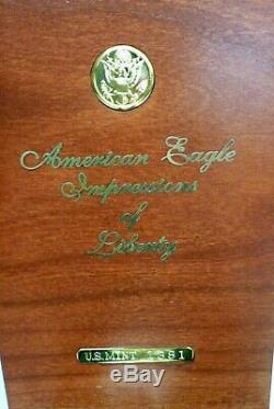 1997 American Eagle Impressions of Liberty Proof 3 Coin Set I-9708