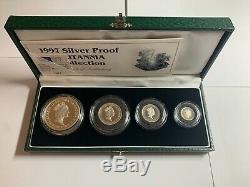 1997 Silver Proof Britannia Collection 4 coin set, cased + COA
