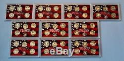 1999 2008 90% Silver Proof Quarter Sets- 50 Coins -No Box/COA
