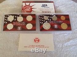 1999 2008 Complete Silver Proof Sets (10 Sets) in Original Govt Packaging