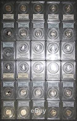 1999-2008-s Silver State Quarter 50 Coin Proof Set Pcgs Pr69 Dcam Deep Cameo
