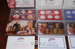 1999-2008 US Mint Silver Proof Set & Standand Proof Set, OGP, COA, Storage Boxes
