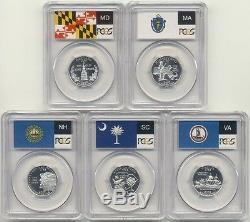 1999-2009 S Silver State Quarter 56 Coin Proof Set PCGS PR69 DCAM 25C PR69DCAM