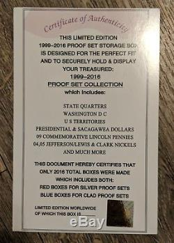 1999-2016 US Mint Silver Proof Sets in OGP withCOA Comes in Special Collectors Box