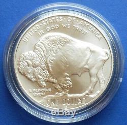 2001 American Buffalo Commemorative 2-coin Set. Proof & Unc. Silver. Ogp/coa