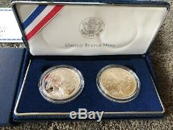 2001 American Buffalo PROOF & UNCIRCULATED Silver Dollars Commemorative Coin Set