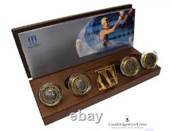 2002 Silver Proof Piedfort Common Wealth Games £2 Coin Set Box COA Manchester