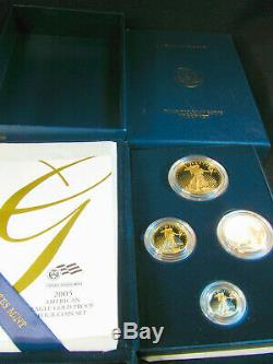 2005 W American Gold Eagle 4 Coin Proof Set w Box COA Platinum Silver Palladium
