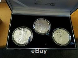 2006 3-pc American Eagle 20th Anniversary Silver Coin Set Reverse Proof A10 AC